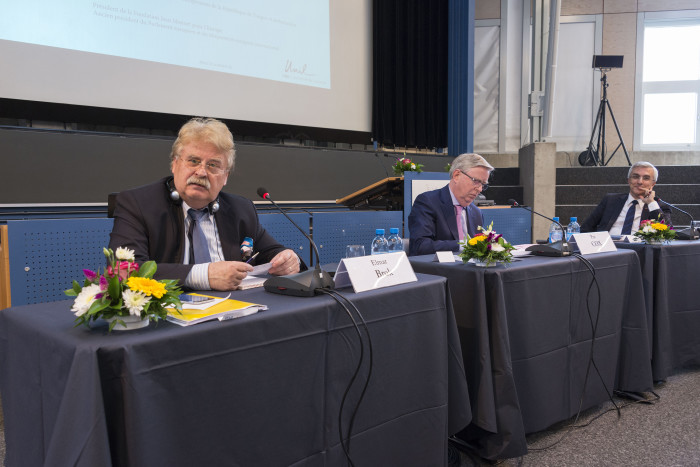 Elmar Brok, Pat Cox, Engin Soysal © Fondation Jean Monnet pour l'Europe, Lausanne