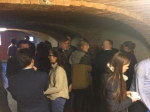 Les participants de la Rencontre européenne étudiante dans la nef de la Ferme de Dorigny
