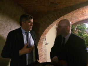 Edouard Husson, professeur des universités d'histoire contemporaine et vice-président de Paris Sciences et Lettres, en discussion avec Gilles Grin