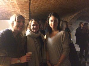 Eva Paul, Margaux Studer, assistante du prof. Casasus ; Nathalie Fanzy, responsable de l'administration et des événements